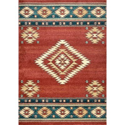 Lachine Red/Blue Area Rug Rug Size: Rectangle 4 x 6