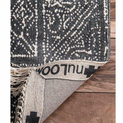 Leduc Hand Woven Wool, Cotton Dark Gray Area Rug Rug Size: Runner 26 x 8