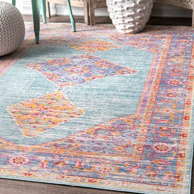 Longmont Green/Purple/Yellow Area Rug Rug Size: Rectangle 43 x 66