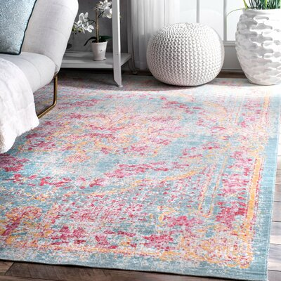 Orange Light Gray/Red Area Rug Rug Size: Rectangle 43 x 66