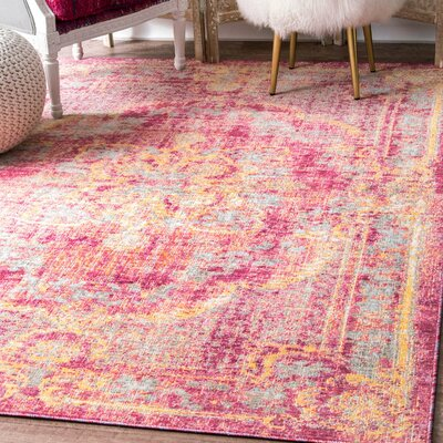 Taunton Rust Area Rug Rug Size: Rectangle 43 x 66
