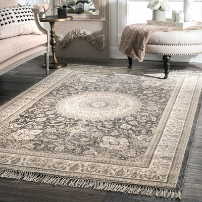 Monserrat Hand Woven Wool, Cotton Gray Area Rug Rug Size: Rectangle 76 x 96