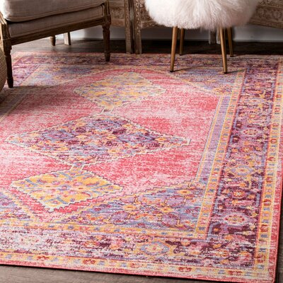 Montegue Pink Area Rug Rug Size: Rectangle 8 x 10