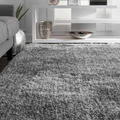 Kristan Hand-Tufted Gray Area Rug Rug Size: Rectangle 4 x 6