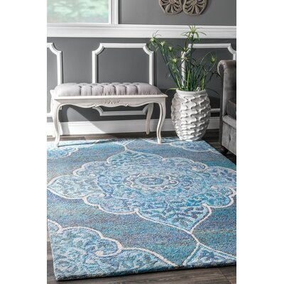 Norristown Hand Tufted Blue Area Rug Rug Size: Rectangle 76 x 96