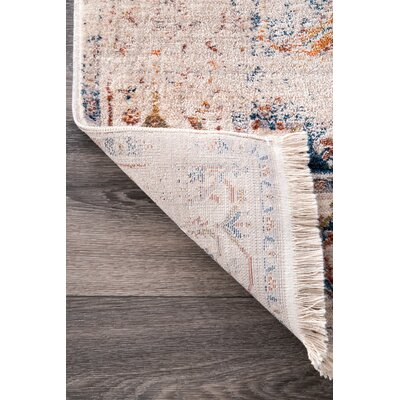 Elverson Ivory Area Rug Rug Size: Rectangle 6' 7