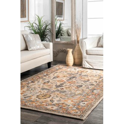 Morre Hand Tufted Wool Beige Area Rug Rug Size: Rectangle 5 x 8