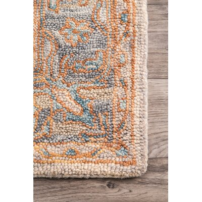 Grazierville Hand Tufted Wool Beige Area Rug Rug Size: Rectangle 76 x 96
