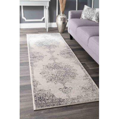 Cleavenger Gray Area Rug Rug Size: Runner 28 x 8