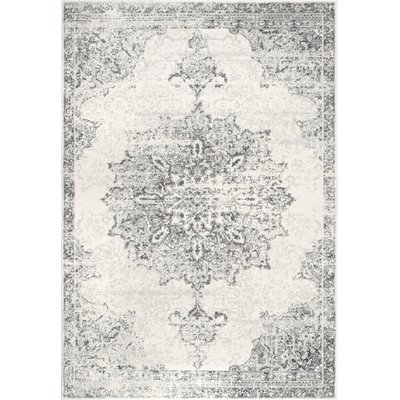 Cleavenger Gray Area Rug Rug Size: Rectangle 5' x 7'5