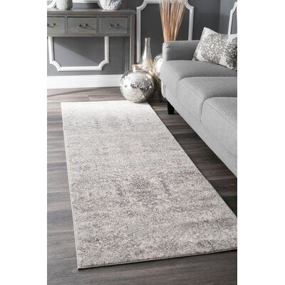 Cleavenger Traditional Gray Area Rug Rug Size: Runner 28 x 8