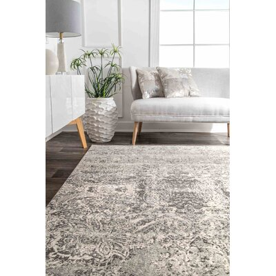 Cleavenger Traditional Gray Area Rug Rug Size: Rectangle 8 x 10