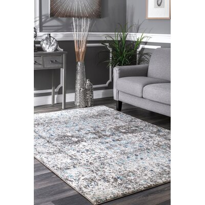 Katerine Blue Area Rug Rug Size: Rectangle 5 x 75