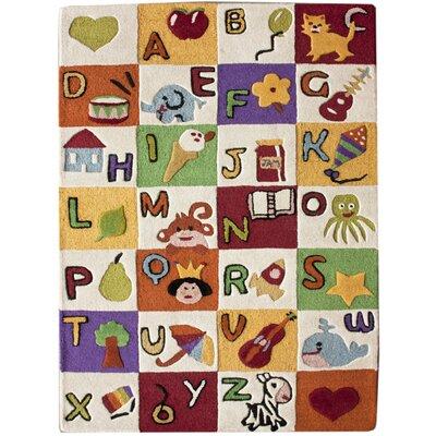 nuLOOM Kinder Alphabet Expressions Kids Rug