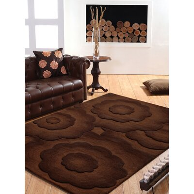 Moderna Hand-Tufted Wool Brown Area Rug Rug Size: Rectangle 76 x 96