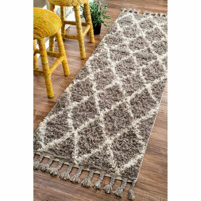 Longmeadow Hand-Knotted Gray Area Rug Rug Size: Runner 28 x 8