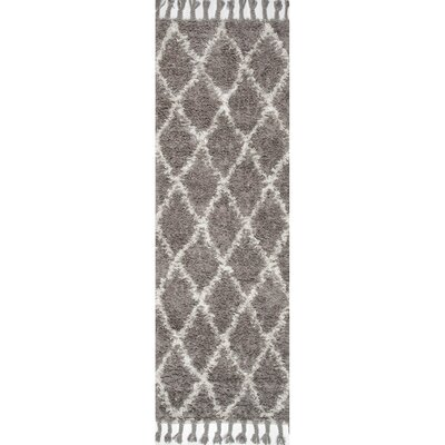 Longmeadow Hand-Knotted Gray Area Rug Rug Size: Runner 28 x 10