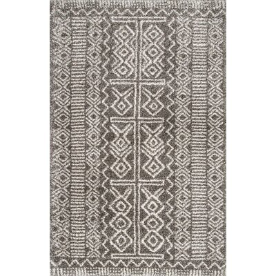 Baitz Dark Gray Area Rug Rug Size: Rectangle 7 6 x 9 6