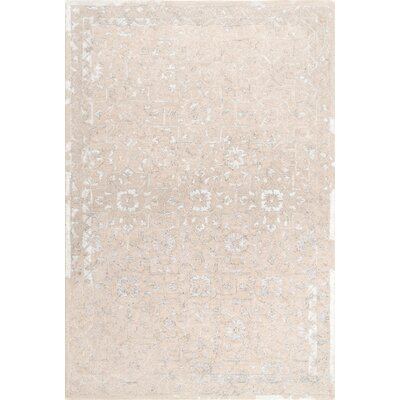 Axis Hand-Tufted Beige Area Rug Rug Size: Rectangle 7 6 x 9 6