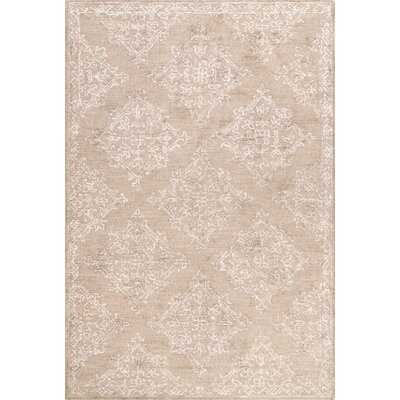 Aurelia Hand-Tufted Beige Area Rug Rug Size: Rectangle 5 x 8