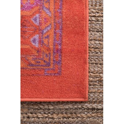 Zac Orange/Purple Area Rug Rug Size: Rectangle 8 x 10