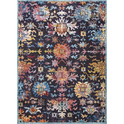 Van Nuys Black/Red/Blue Area Rug Rug Size: Rectangle 7 10 x 11