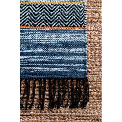 Bairdstown Blue Area Rug Rug Size: Rectangle 7 6 x 9 6