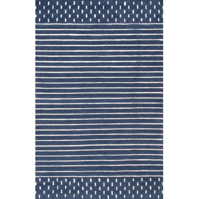 Badger Wool Navy Area Rug Rug Size: Rectangle 7 6 x 9 6