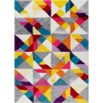 Ramirez Red/Yellow/Gray Area Rug Rug Size: Rectangle 5 3 x 7 6