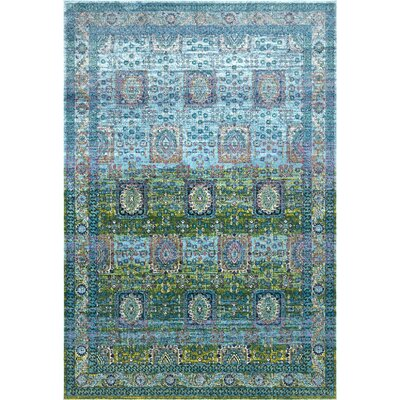 Viborg Blue/Green Area Rug Rug Size: Rectangle 9' x 12'