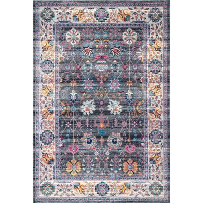Hartfield Gray Area Rug Rug Size: Rectangle 5 3 x 7 7