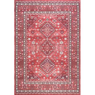 Venice Cotton Red Area Rug Rug Size: Rectangle 7 6 x 9 6