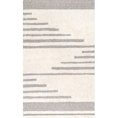 Ormside Cotton/Wool Ivory Area Rug Rug Size: Rectangle 5 x 8