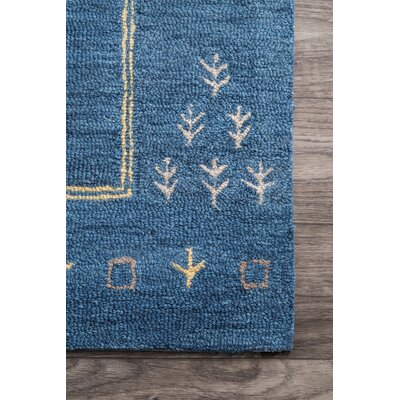 Rosenberg Hand-Tufted Wool Navy Area Rug Rug Size: Rectangle 7 6 x 9 6