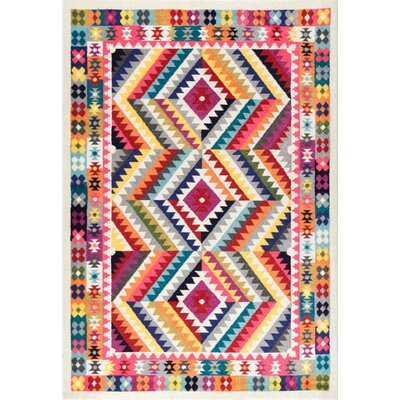 Ralph Pink/Yellow Area Rug Rug Size: Rectangle 5 x 8