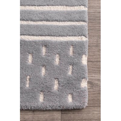 Atterberry Wool Gray Area Rug Rug Size: Rectangle 7 6 x 9 6