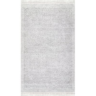 Partlow Ivory Area Rug Rug Size: Rectangle 7 6 x 9 6