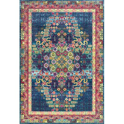 Tyrese Blue/Red Area Rug Rug Size: Rectangle 9 x 12