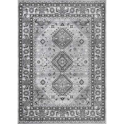 Velma Cotton Gray Area Rug Rug Size: Rectangle 7 6 x 9 6