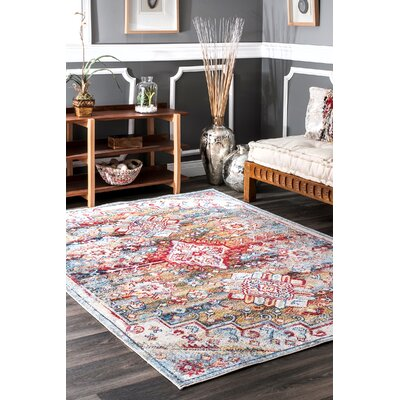 Vania Bule/Red Area Rug Rug Size: Rectangle 7 10 x 11