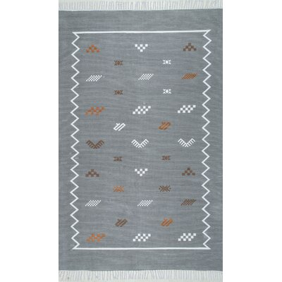 Fisher Hand-Woven Gray Area Rug Rug Size: Rectangle 5' x 7' 5