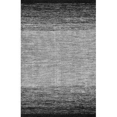 Charmine Cotton/Wool Black Area Rug Rug Size: Rectangle 5 x 8