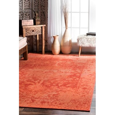 Urijah Orange Area Rug Rug Size: Rectangle 8 x 10
