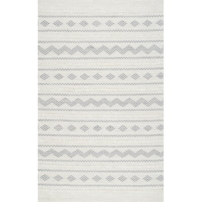 Cusack Hand-Woven Cotton Ivory Area Rug Rug Size: Rectangle 7 6 x 9 6