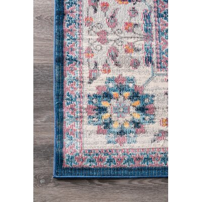 Hartwick Blue/Orange Area Rug Rug Size: Rectangle 5 3 x 7 7