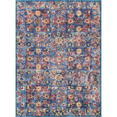 Valkenswaard Blue/Red Area Rug Rug Size: Rectangle 5 3 x 7 7