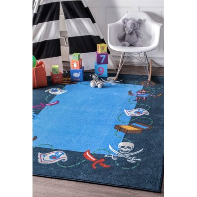 Hittle Blue Area Rug Rug Size: Rectangle 5 x 7 5