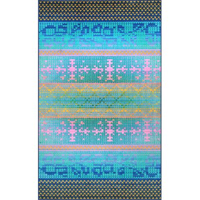 Veldhoven Blue/Yellow/Pink Area Rug Rug Size: Rectangle 5 x 8