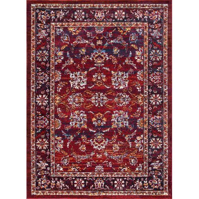 Vada Burgundy Area Rug Rug Size: Rectangle 5 3 x 7 7