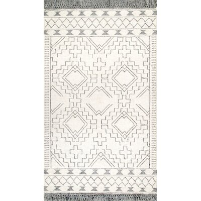 Bainbridge Island Wool Ivory/Gray Area Rug Rug Size: Rectangle 5 x 8